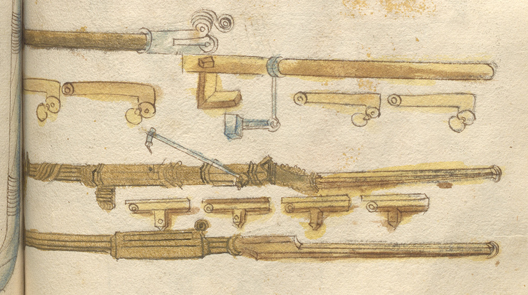 Images of breech loaded handgonnes by Ludwig von Eyb in the Kriegsbuch