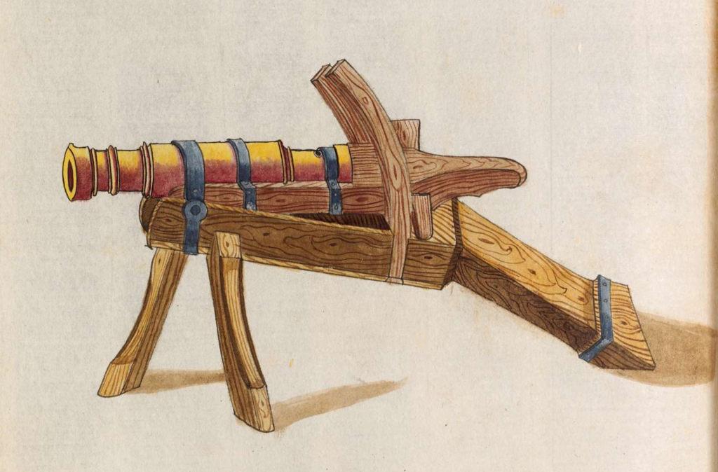 Mid 15th century cannon.