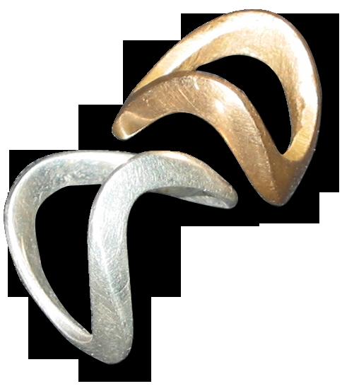 Silberner und bronzener Schaukelfingerring